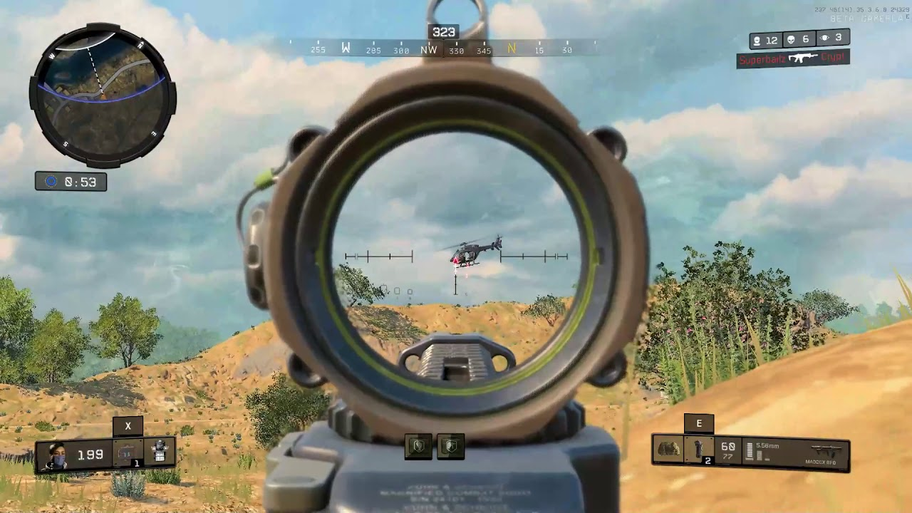 Black Ops 4: Glitched Helicopter Kill in Blackout